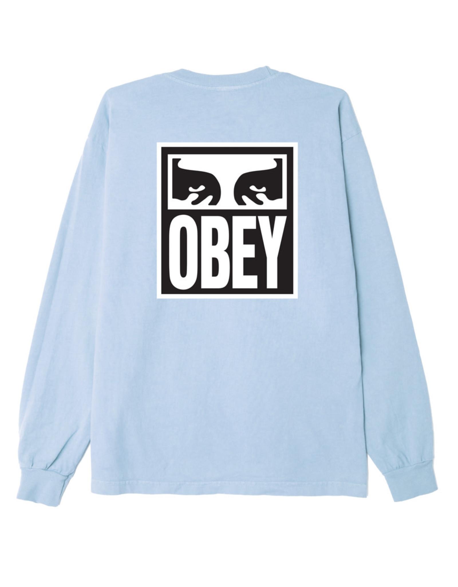 Obey Obey - Chandail long femme obey eyes custom box china blue