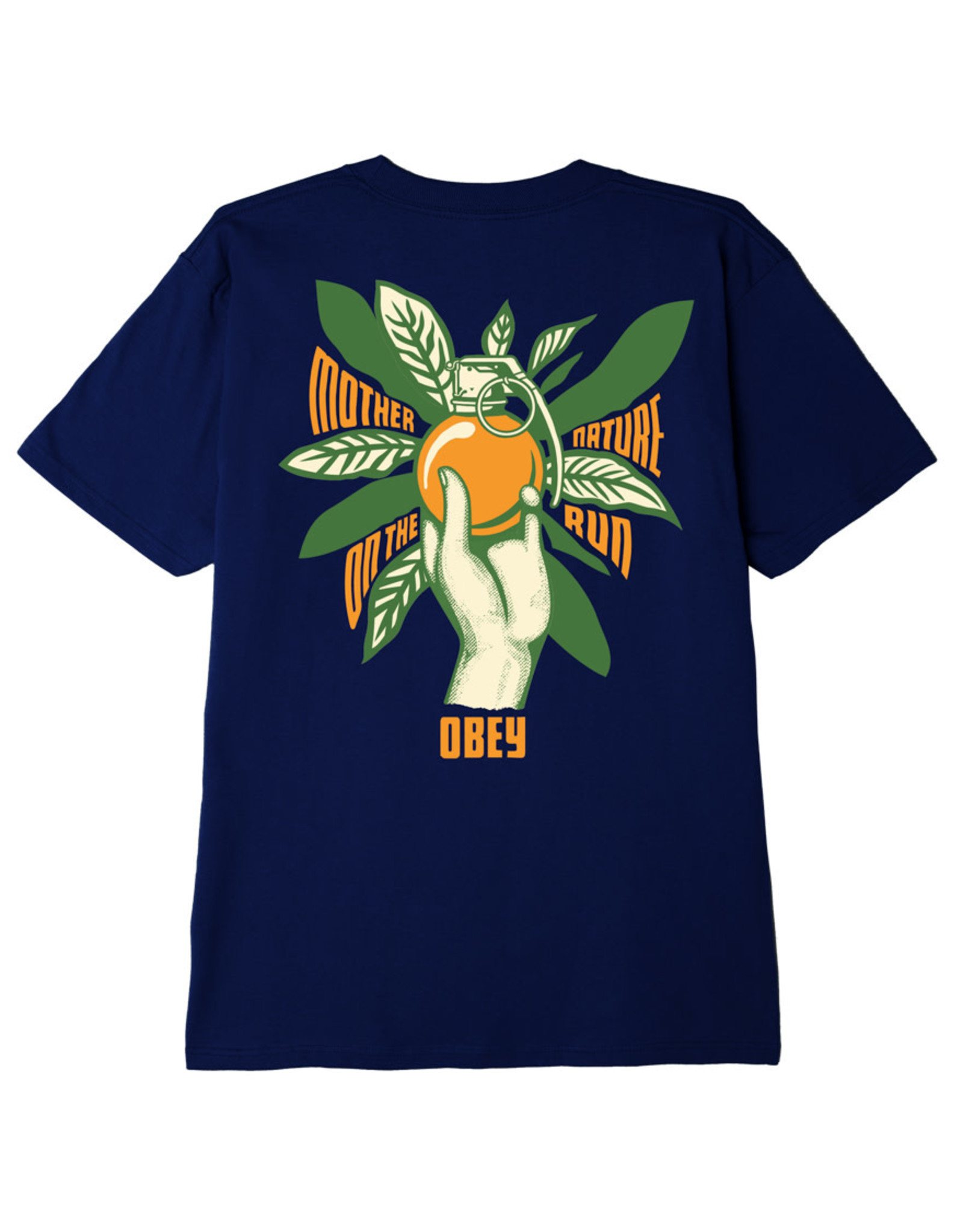 Obey Obey - T-shirt homme mother nature on the run shepard navy