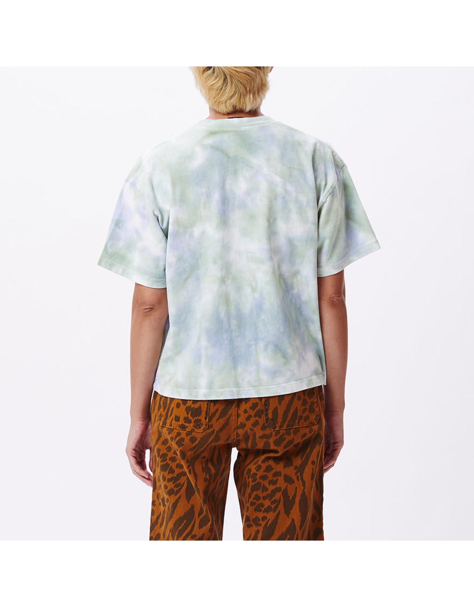 Obey Obey - T-shirt femme obey new custom crop purple half spiral tie dye