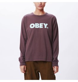 Obey Obey - Chandail long femme obey bold custom box plum