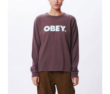 Obey - Chandail long femme obey bold custom box plum