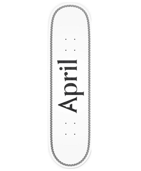 April Skateboard - Skateboard og logo helix black