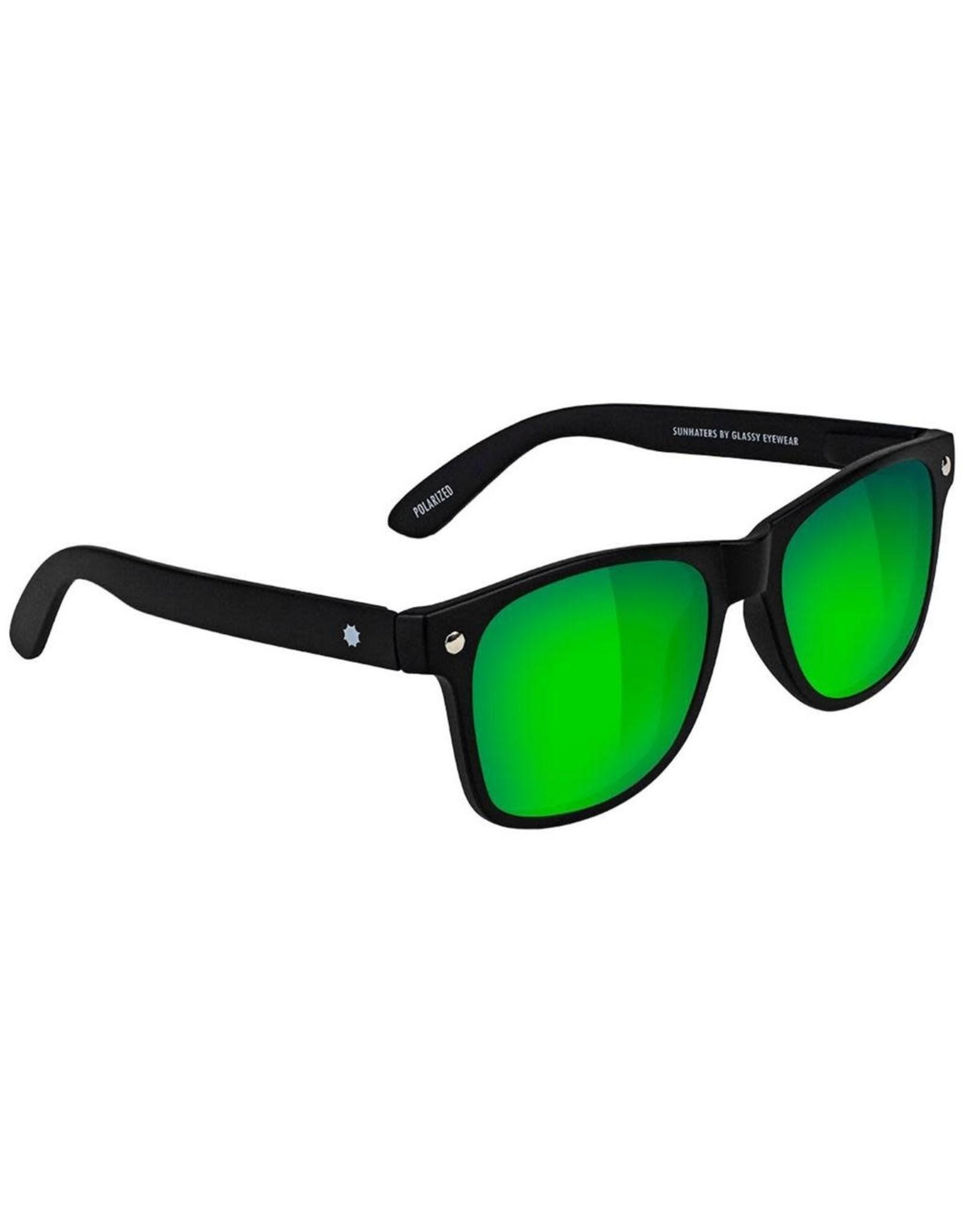 Glassy - Lunette soleil homme leonard polarized matte black/green mirror