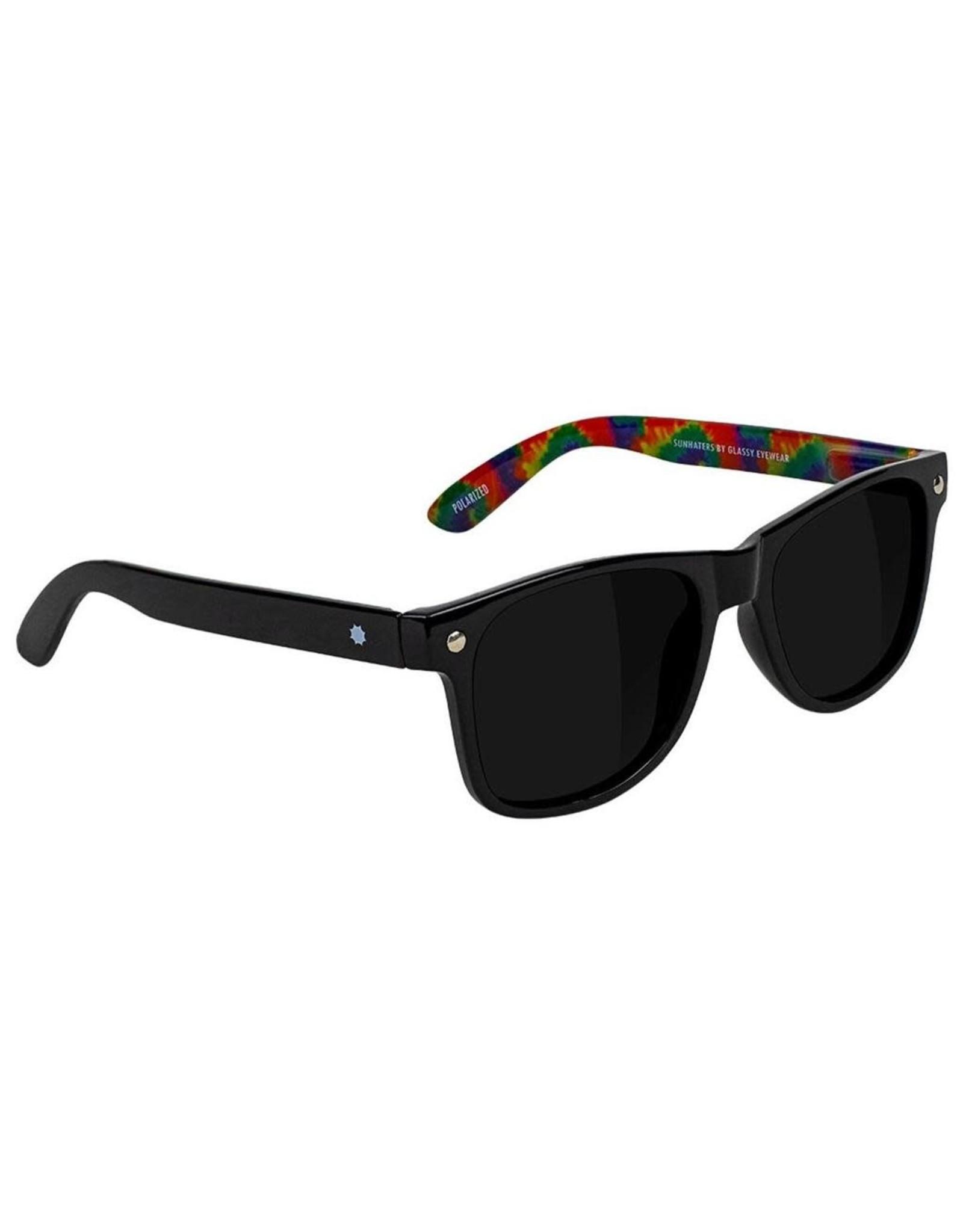 Glassy - Lunette soleil homme leonard polarized black/tie dye