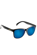 Glassy - Lunette soleil homme deric polarized black/blue mirror