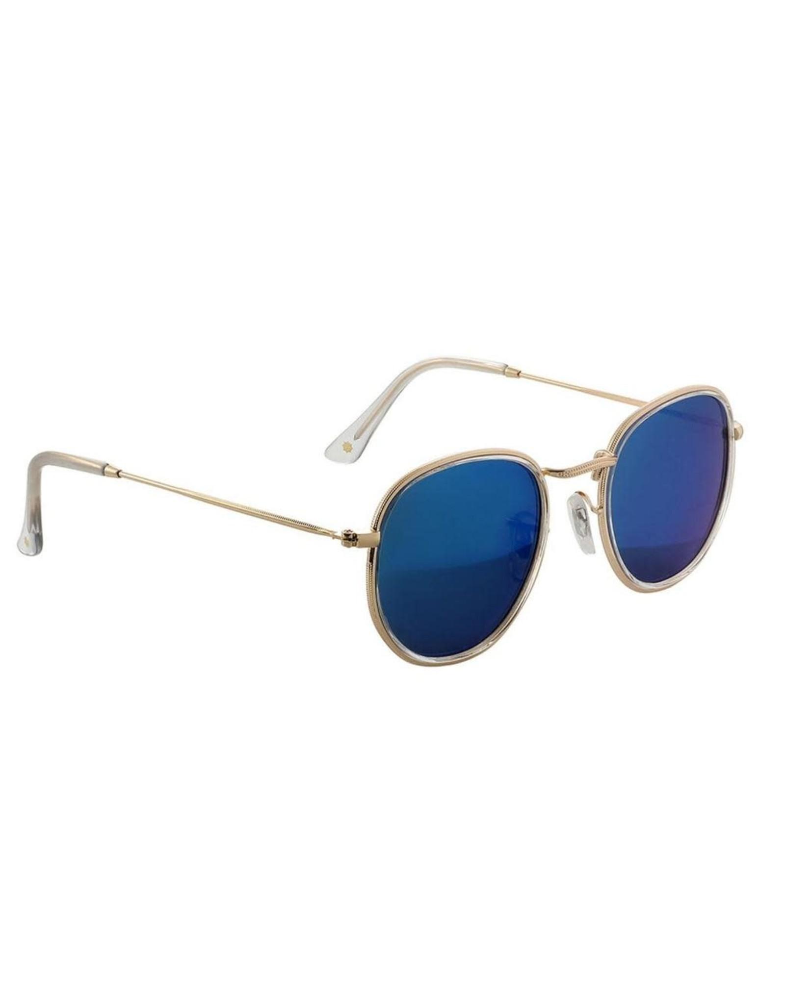 Glassy - Lunette soleil homme hudson polarized clear/blue mirror