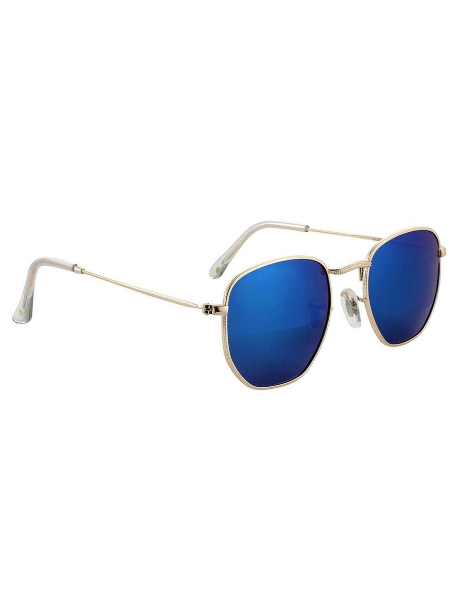 Glassy - Lunette soleil homme turner polarized gold/blue mirror