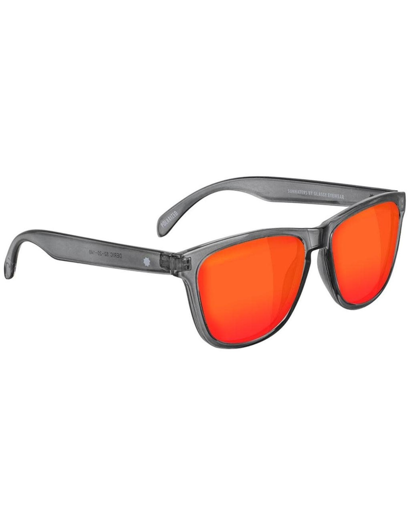 Glassy - Lunette soleil homme deric polarized clear grey/red mirror