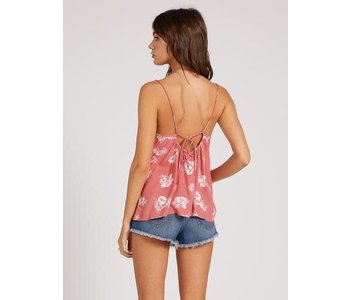 Volcom - Camisole femme stone steps dust red
