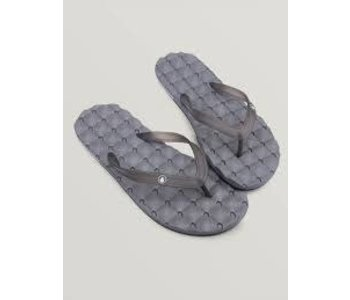 Volcom - Sandale homme recliner rubber 2 black grey