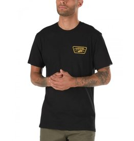 vans Vans - T-shirt homme full patch back black/saffron