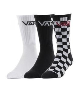 vans Vans - Bas homme classic crew 3 pack black/checkerboard