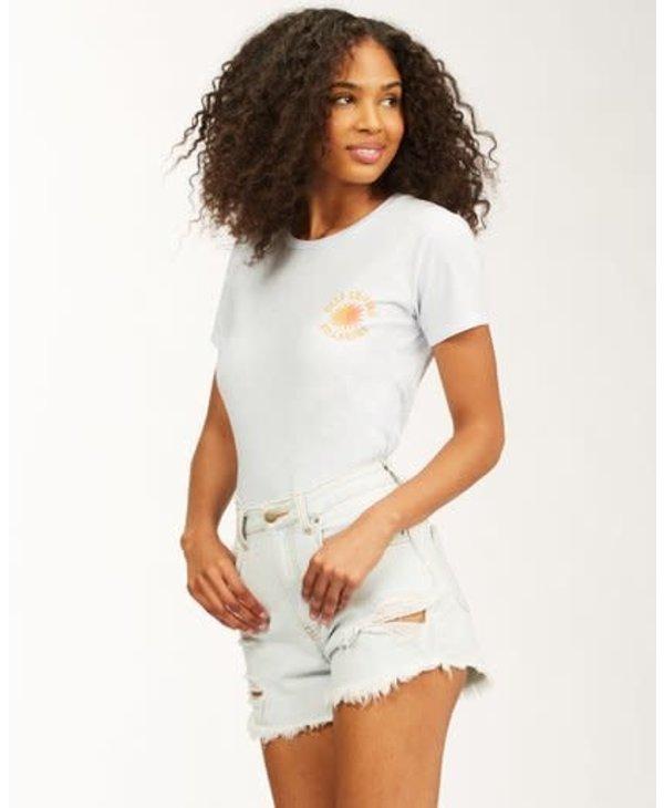 Billabong - T-shirt femme keep shining ice blue