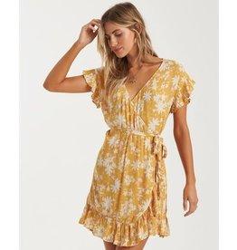 billabong Billabong - Robe femme wrap and roll bright gold