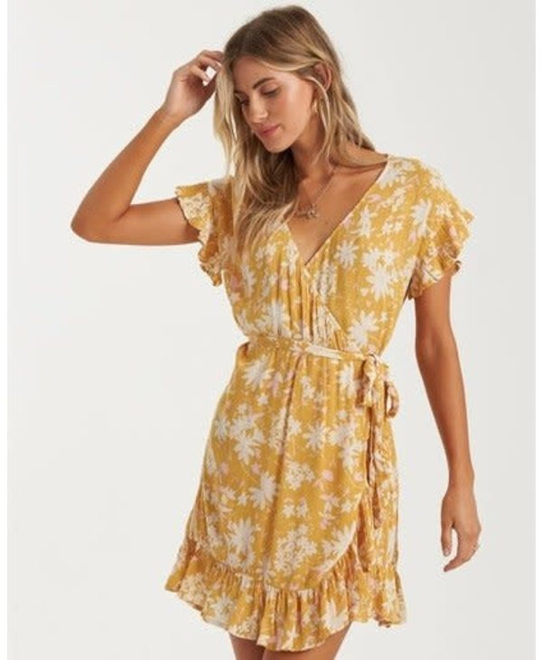 Billabong - Robe femme wrap and roll bright gold