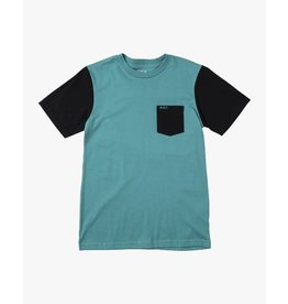 rvca Rvca - T-shirt homme ollie colorblock turquoise