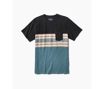 Roark - T-shirt homme kilim jacquard knit black