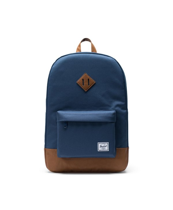 Herschel - Sac à dos heritage navy/tan synthetic leather