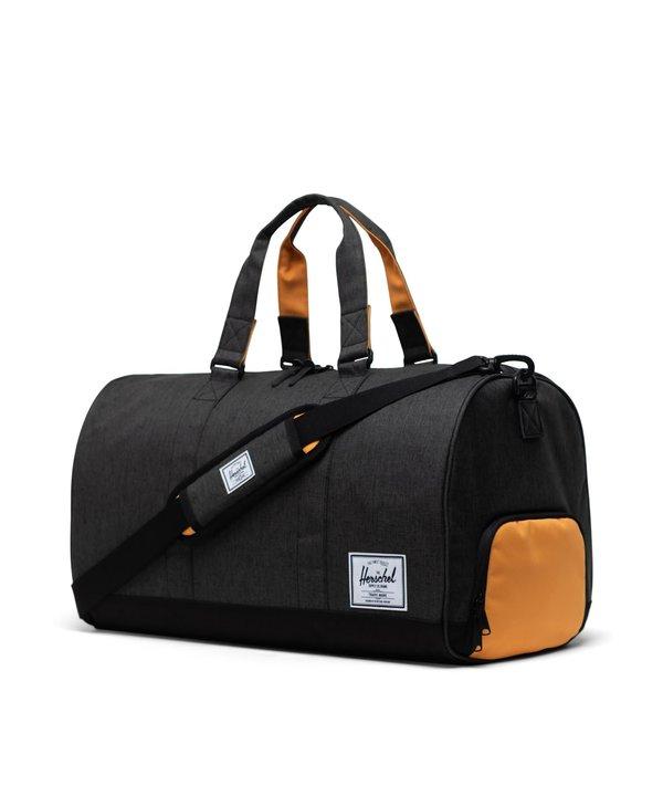 Herschel - Sac transport novel black crosshatch/black/blazing orange