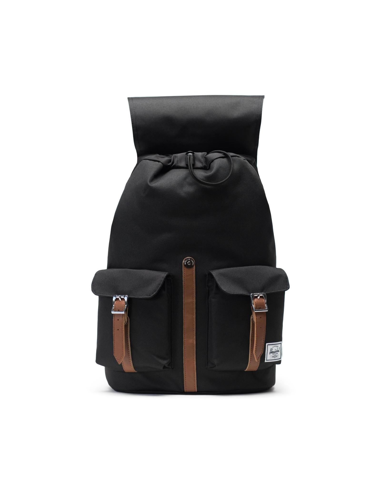 herschel Herschel - Sac à dos dawson black/tan synthetic leather
