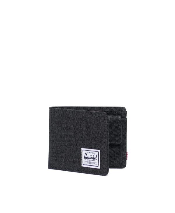 Herschel - Portefeuille roy coin black crosshatch
