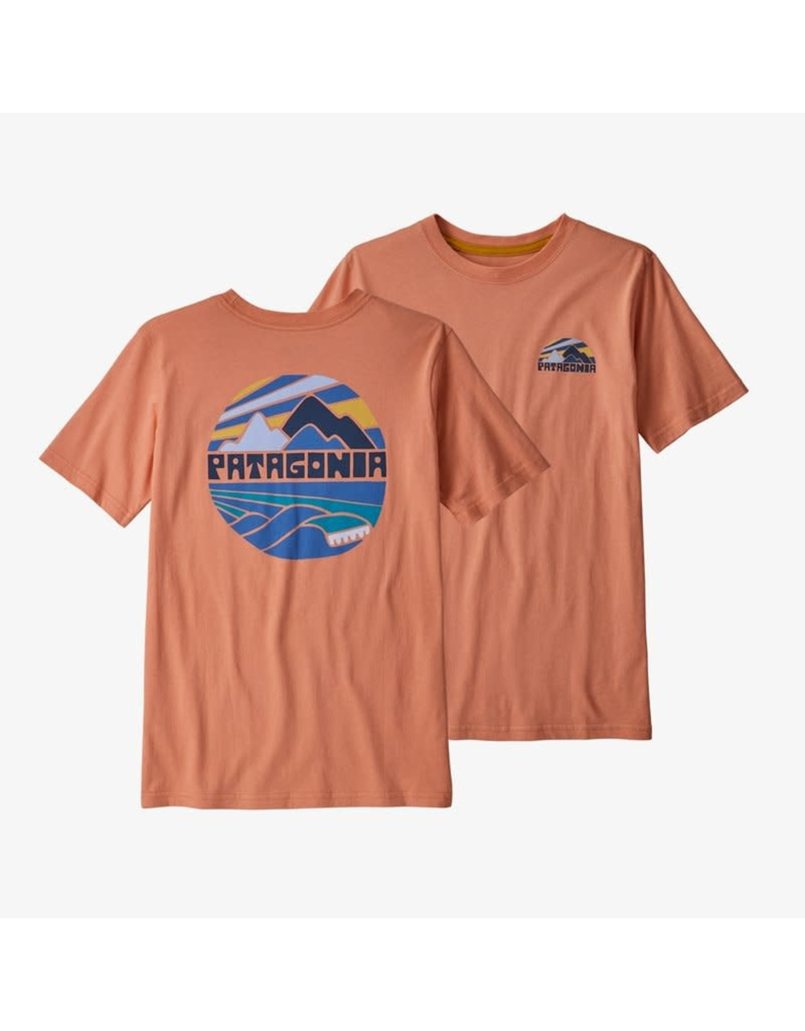 Patagonia Patagonia - T-shirt junior fitz roy rights mellow melon