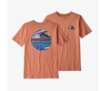 Patagonia - T-shirt junior fitz roy rights mellow melon