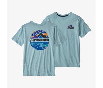 Patagonia - T-shirt junior fitz roy rights big sky blue