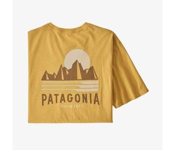 Patagonia - T-shirt homme tube view mountain yellow