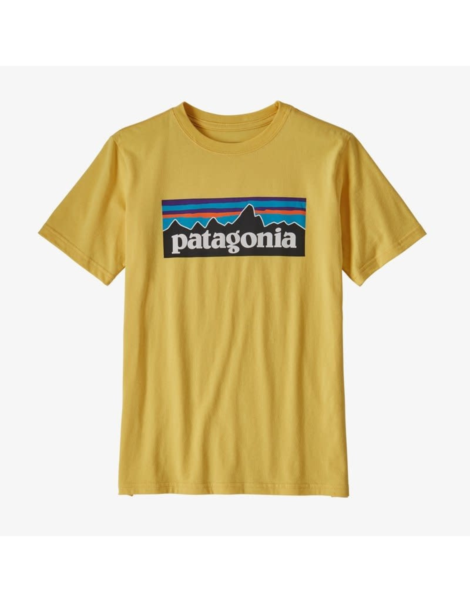 Patagonia Patagonia - T-shirt junior p-6 logo organic surfboard yellow