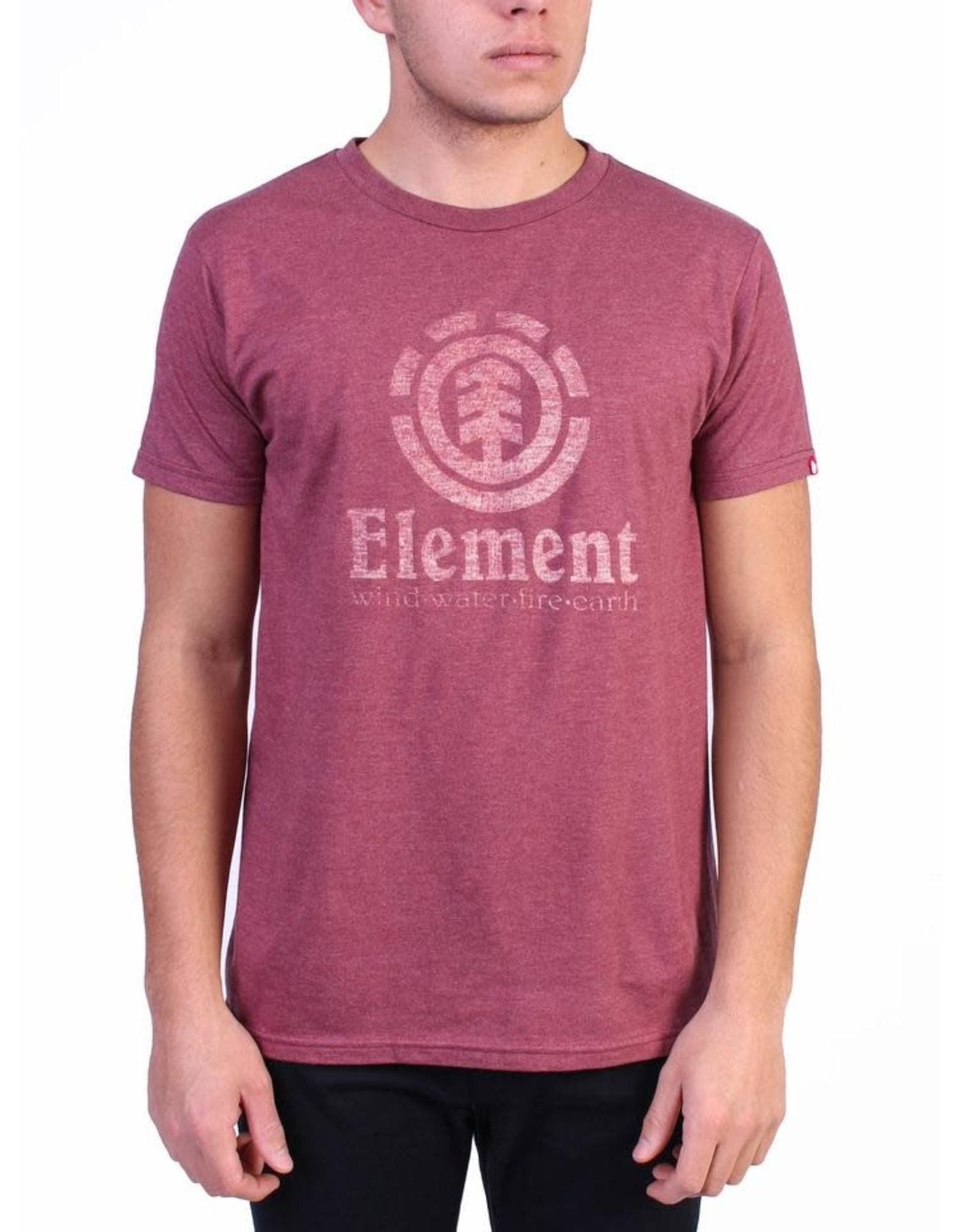 element Element - T-shirt homme vert push burgundy heather