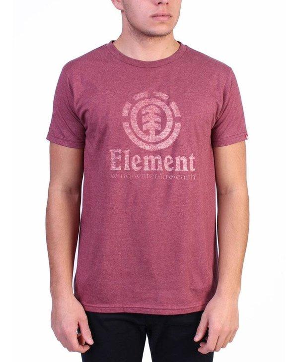 Element - T-shirt homme vert push burgundy heather