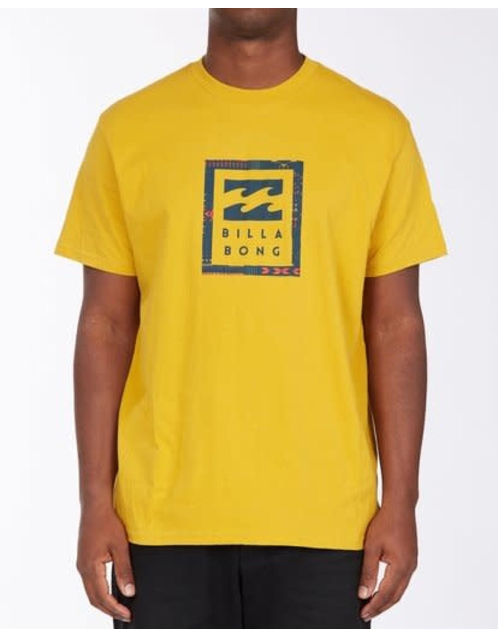 billabong Billabong - T-shirt homme united stacked mustard