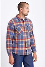 Brixton Brixton - Chemise homme bowery flannel blue/red