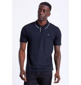 Brixton Brixton - Polo homme proper knit black/white