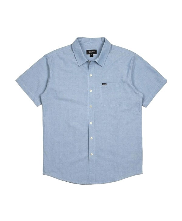 Brixton - Chemise homme charter oxford light blue chambray