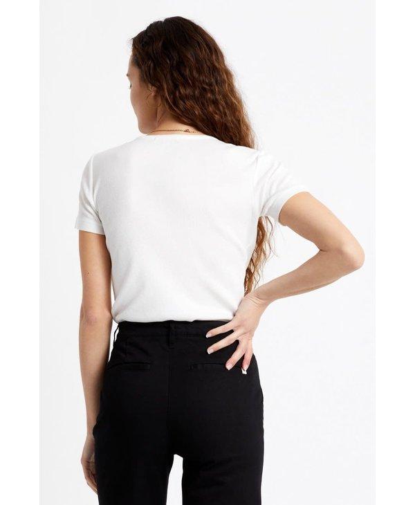 Brixton - T-shirt femme samatha baby white