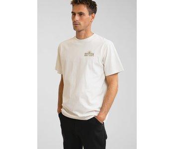 Rhythm - T-shirt homme wood block vintage white