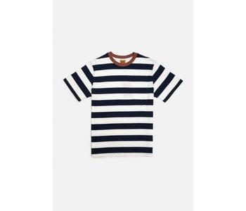 Rhythm - T-shirt homme everyday stripe navy