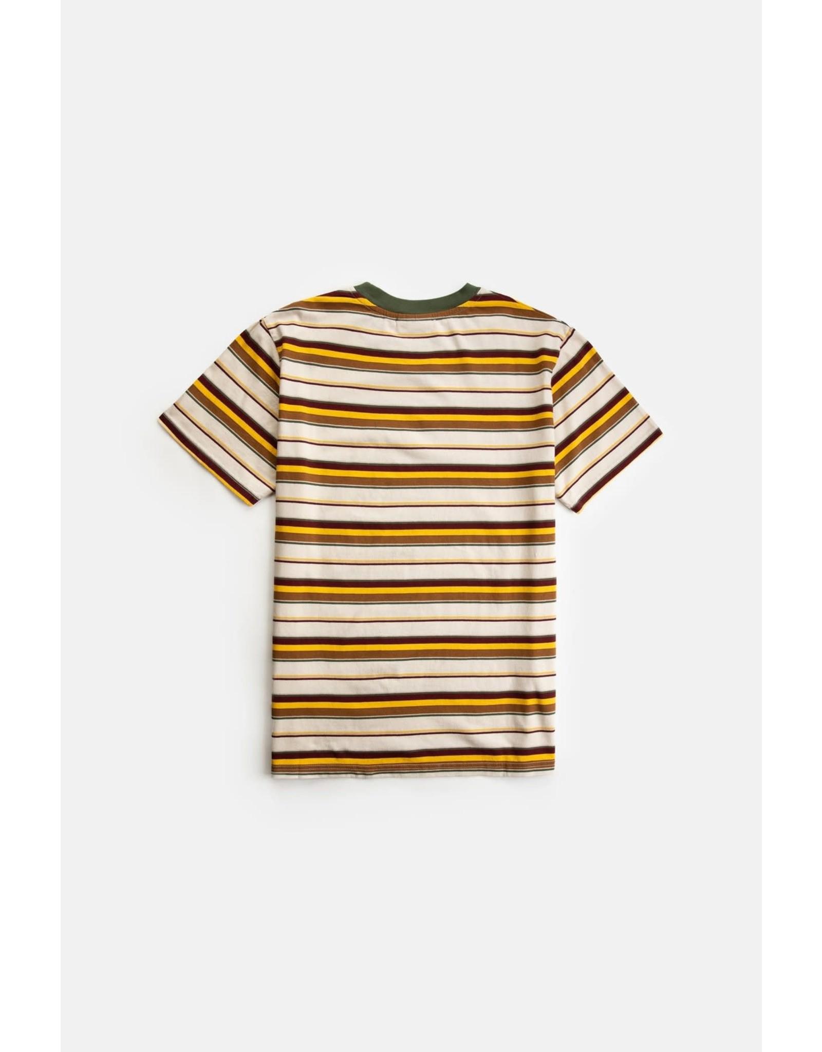 rhythm Rhythm - T-shirt homme everyday stripe natural