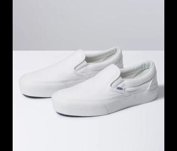 Vans - Soulier femme classic slip-on platform true white