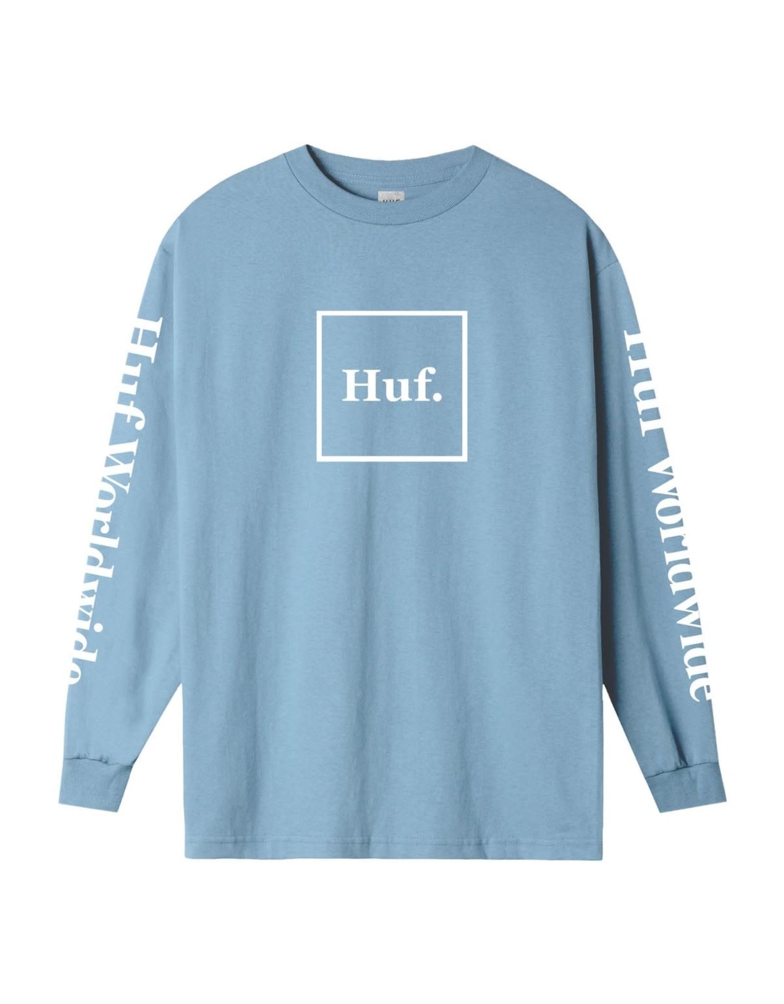 huf Huf - Chandail long homme essentials domestic light blue