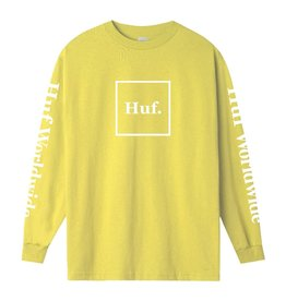huf Huf - Chandail long homme essentials domestic lemon