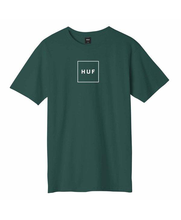 Huf - T-shirt homme essentials box logo dark green