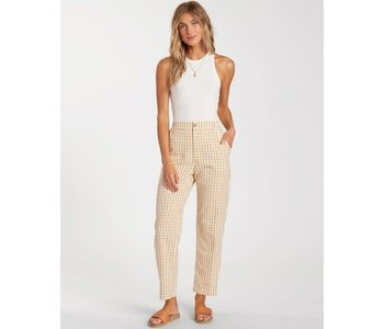 Billabong - Pantalon femme checkmate cropped multi