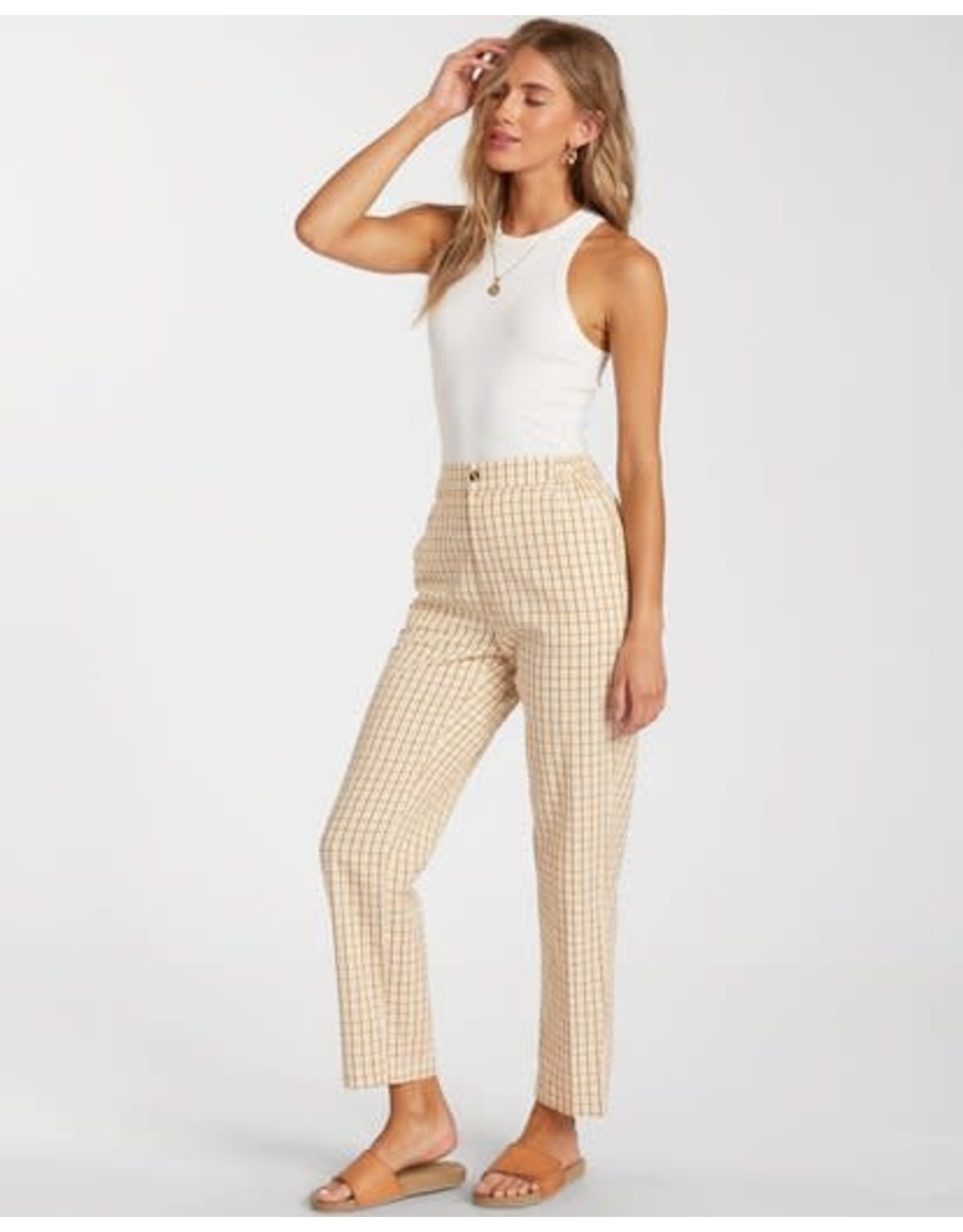 billabong Billabong - Pantalon femme checkmate cropped multi