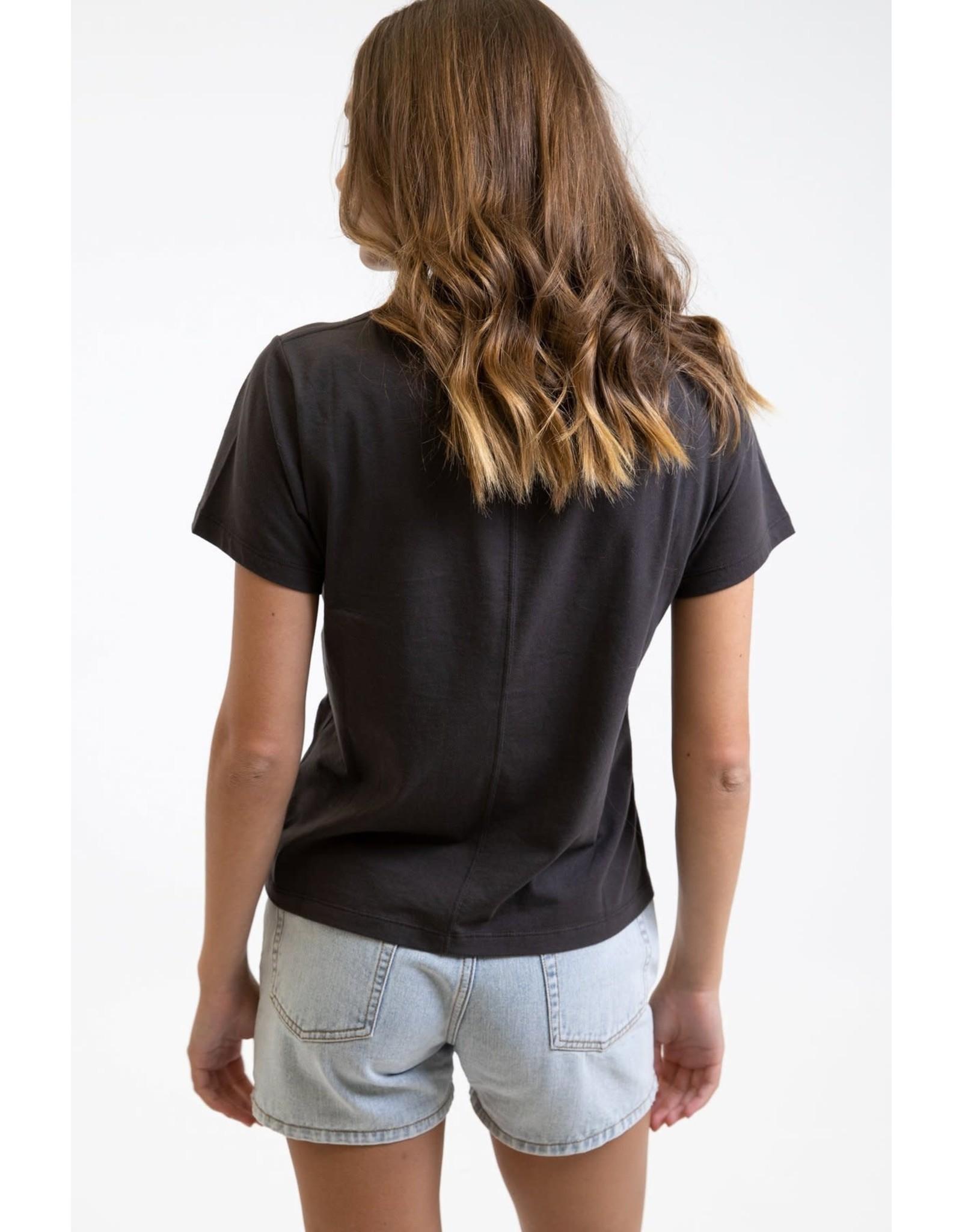 rhythm Rhythm - T-shirt femme classic boyfriend black