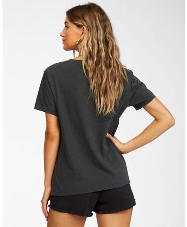 Billabong - T-shirt femme this is life off black