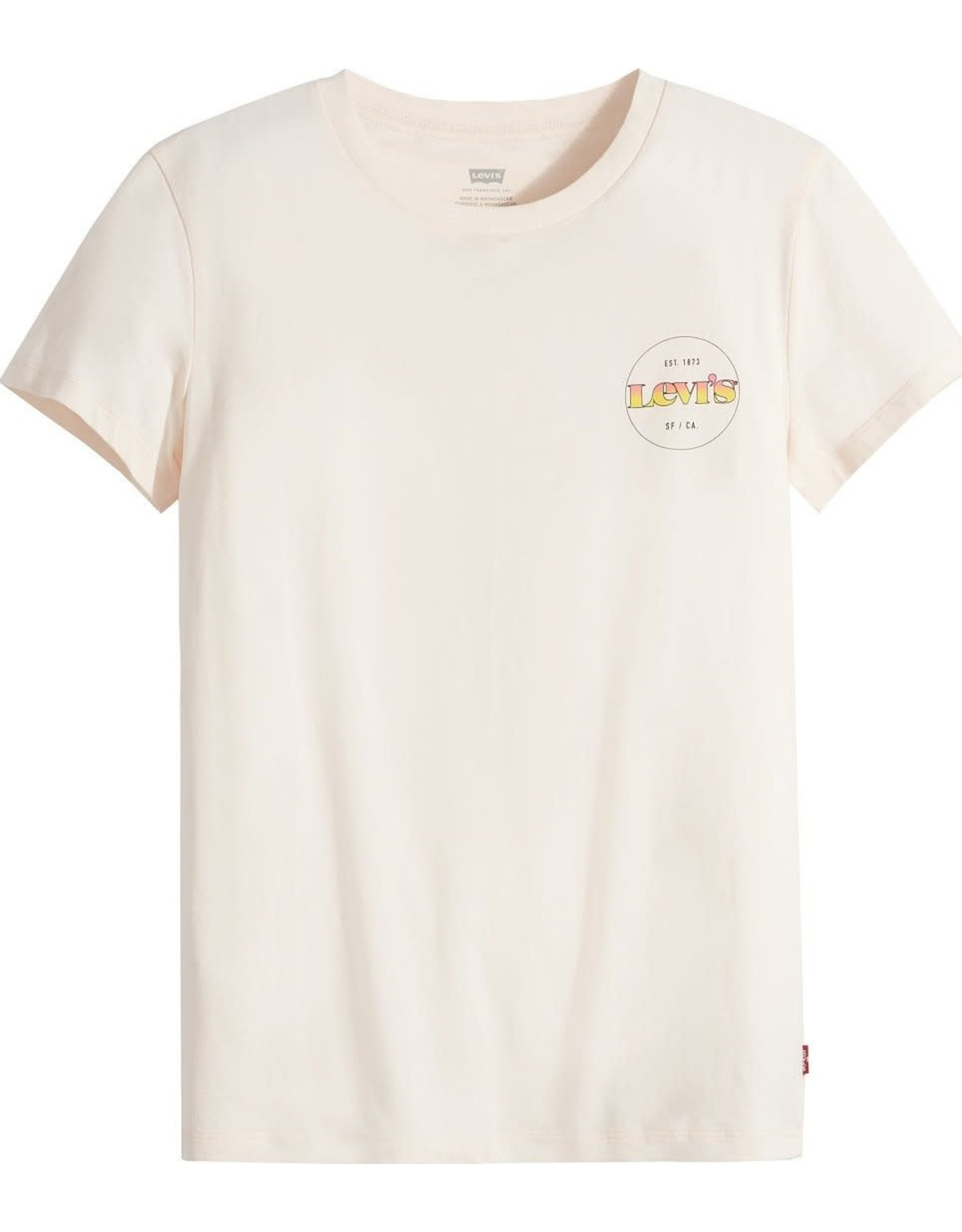 levi's Levi's- T-shirt femme the perfect circle logo gradient chest hit scallop shell