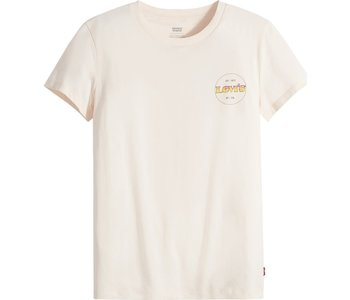 Levi's- T-shirt femme the perfect circle logo gradient chest hit scallop shell